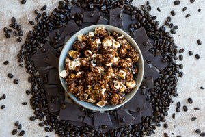 Dark Chocolate Espresso Popcorn For The People Flavored Popcorn Tasty Art Scene