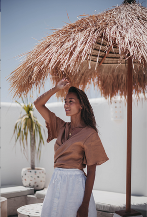 Sanchia Savannah Wrap Top Sunburn