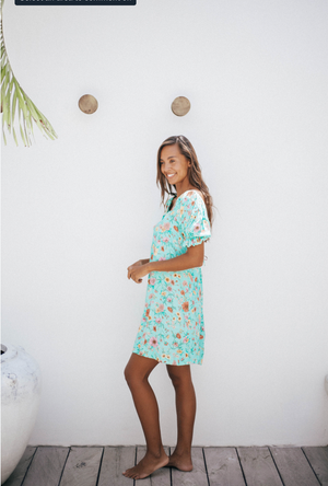 Sanchia Aprile Mini Dress Sea Green