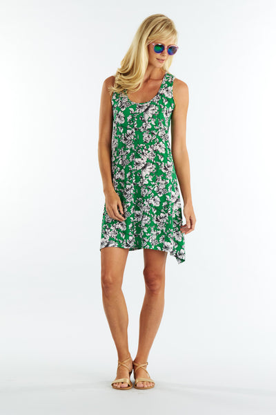 Green Floral Amy Dress