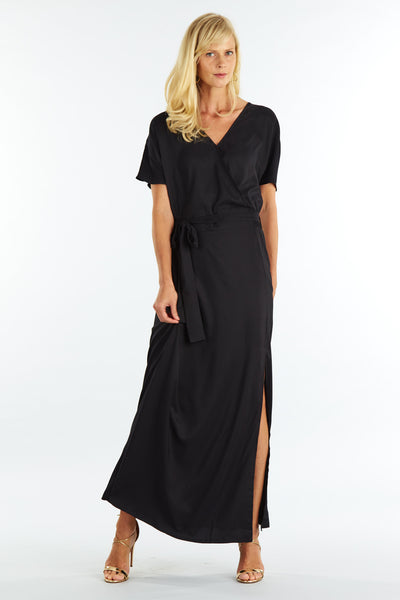 Morgan Black Wrap Maxi
