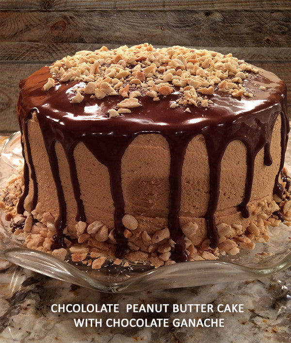Chocolate Peanut Butter Cake with Chocolate Ganache