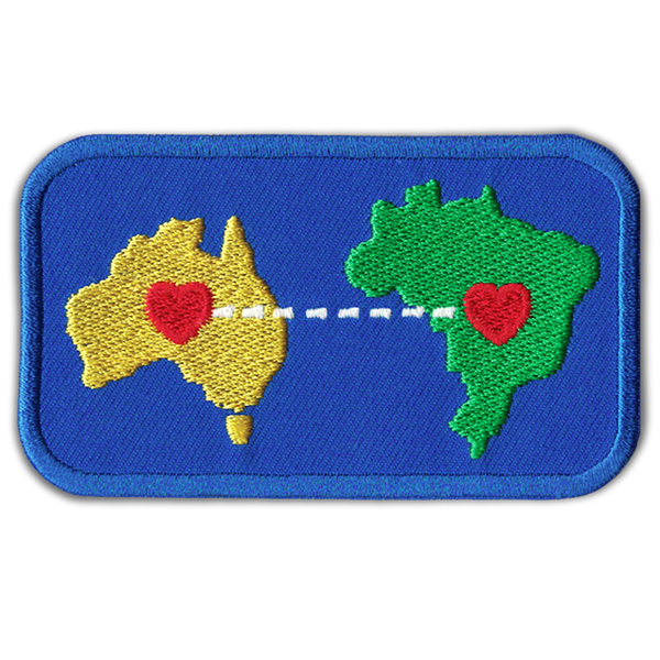 'HEART TO HEART' AUST x BRAZIL ADHESIVE PATCH