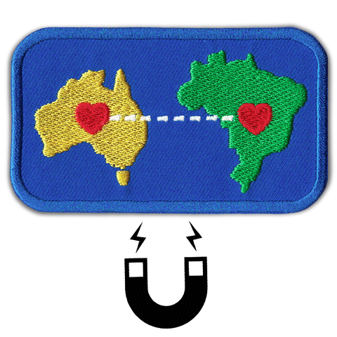 'HEART TO HEART' AUST x BRAZIL MAGNET PATCH