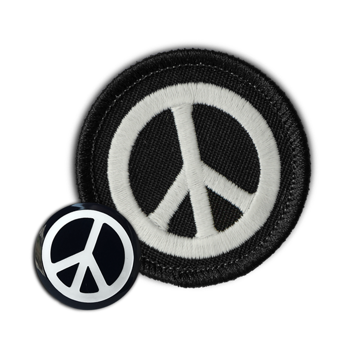 PEACE SIGN PATCH & PIN COMBO (glow-in-the-dark!)