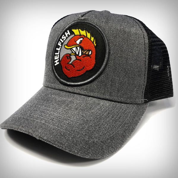 RAGING ABE'S 'FLYING HELLFISH' PREMIUM TRUCKER CAP!
