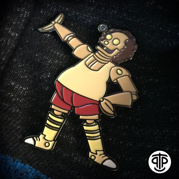 ROBOTIC RICHARD SIMMONS ENAMEL PIN