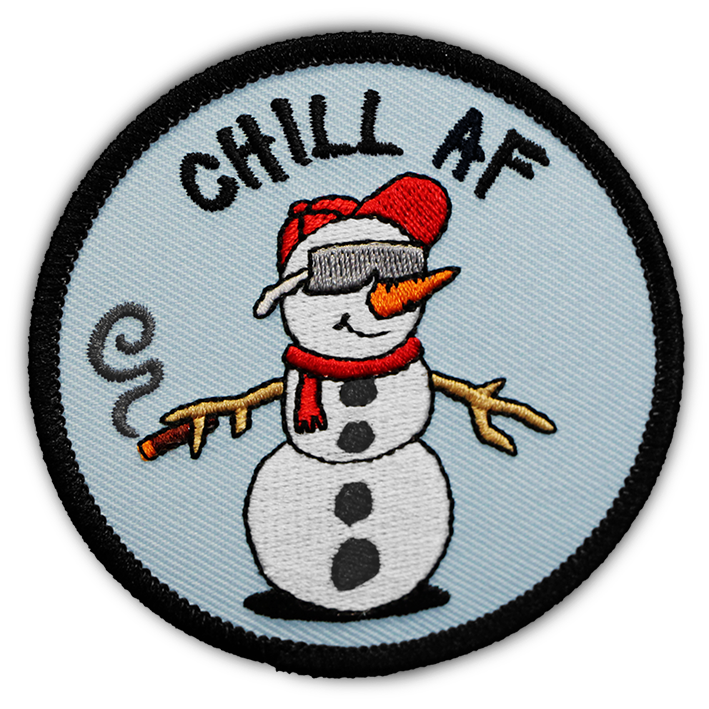 SNOW DUDE 'CHILL AF' PATCH