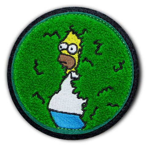 DISAPPEARING HOMER CHENILLE PATCH