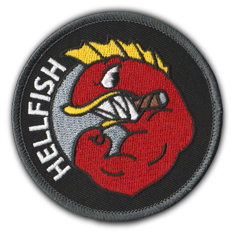 RAGING ABE'S 'FLYING HELLFISH' PATCH