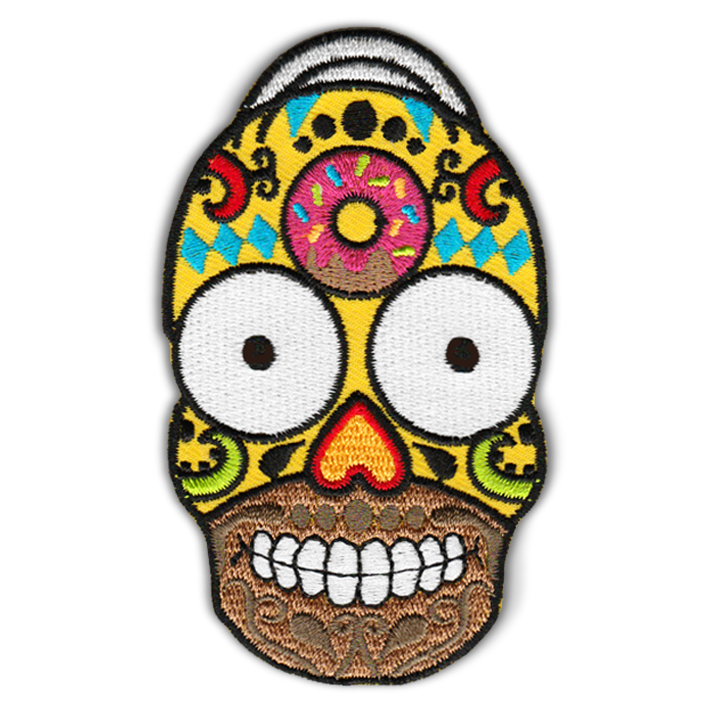 HOMER CANDY SKULL PATCH