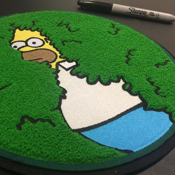 MEGA DISAPPEARING HOMER CHENILLE PATCH