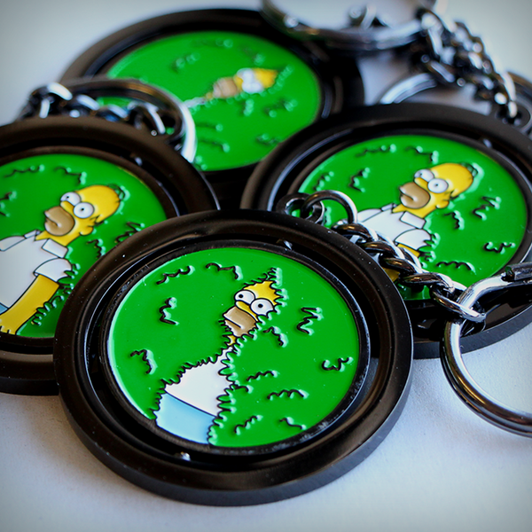 DISAPPEARING HOMER SPINNING KEYRING