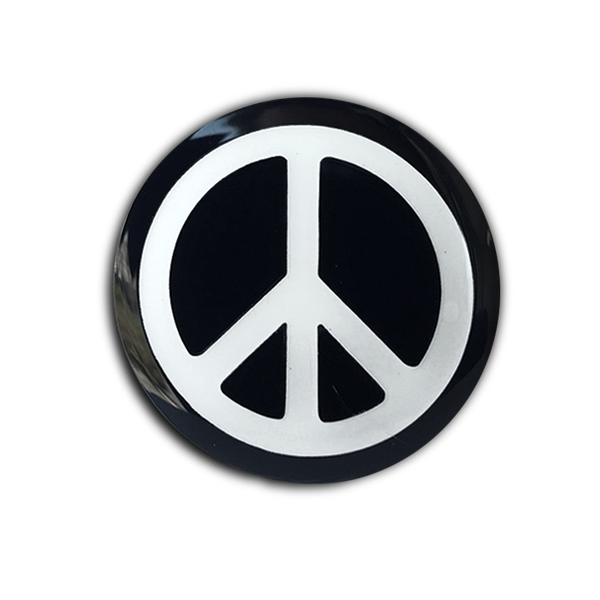 PEACE SIGN PIN (glow-in-the-dark!)