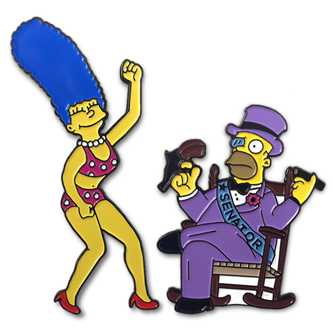 DANCING MARGE & SENATOR HOMER PIN COMBO