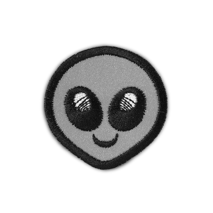 REFLECTIVE ALIEN FACE PATCH