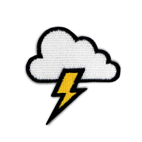CLOUD & LIGHTNING BOLT PATCH