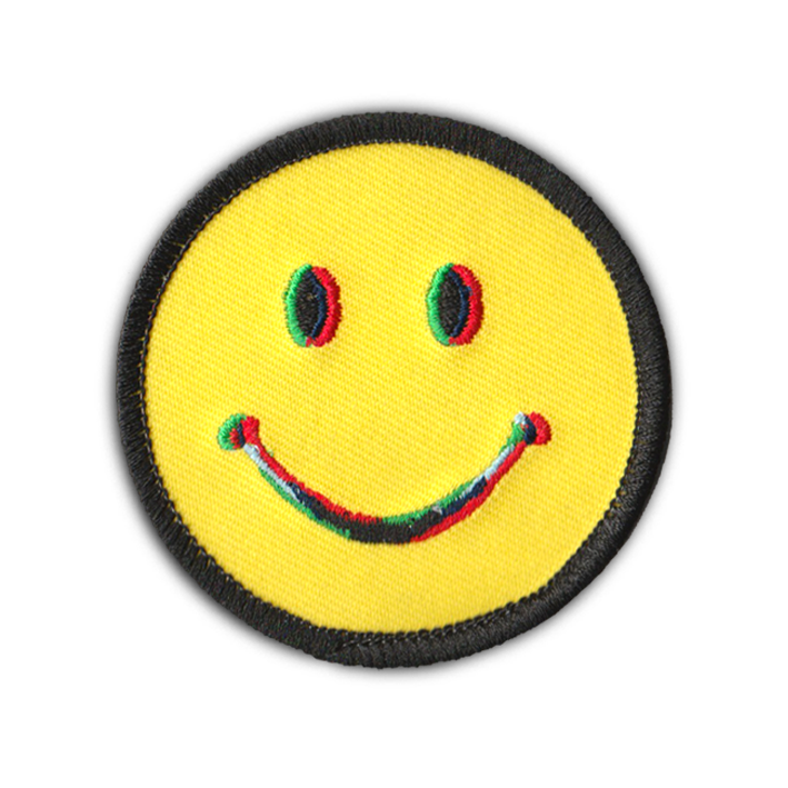 3D SMILEY FACE PATCH