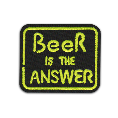 'BEER IS THE ANSWER' PATCH