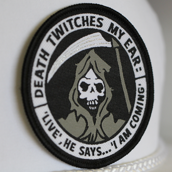 'DEATH TWITCHES MY EAR' PATCH