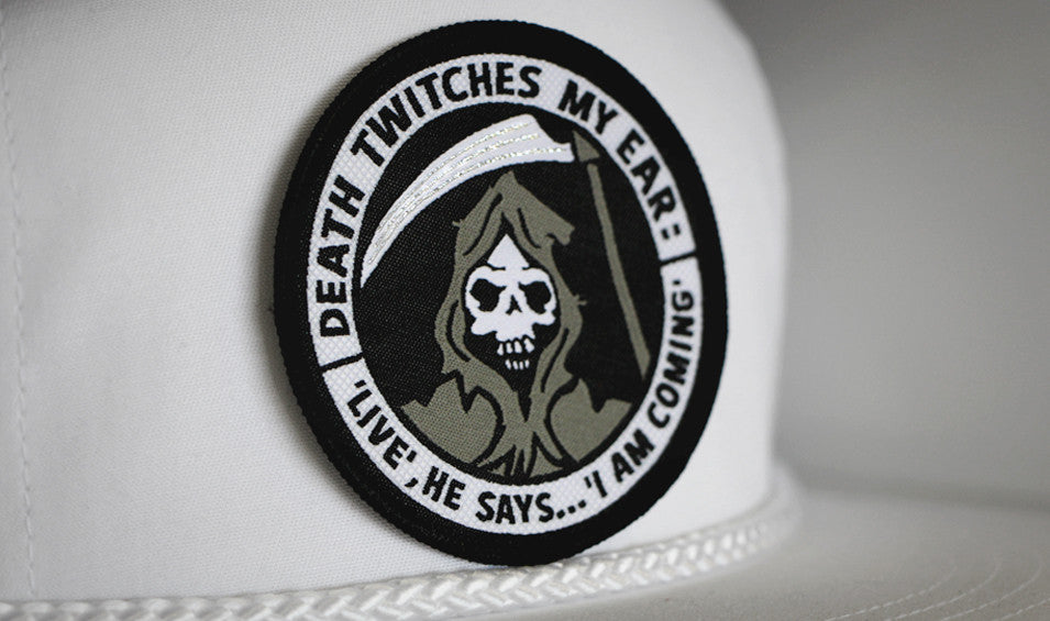 DEATH TWITCHES MY EAR - Woven Patch