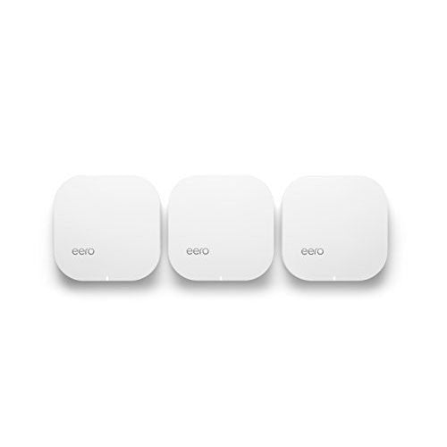 eero Home WiFi System (Pack of 3) - Blanket Your Home in WiFi, Replaces Wireless Router and Range Extender, Gigabit Speed, WPA2 Encryption - qwikby