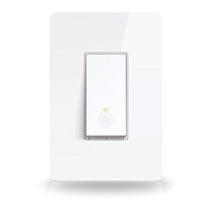 TP-Link Smart Wi-Fi Light Switch, No Hub Required, Single Pole, Control Your Fixtures From Anywhere, Works w/ Amazon Alexa & Google Assistant (HS200)