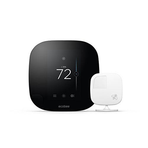 Ecobee3 Thermostat with Sensor, Wi-Fi, 2nd Generation, Works with Amazon Alexa - qwikby