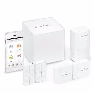 iSmartAlarm iSA3 Preferred Package Home Security System, White - qwikby