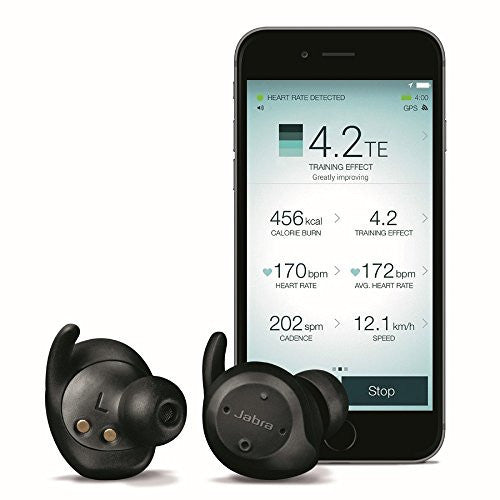 Jabra Elite Sport True Wireless Sweatproof Fitness & Running Earbuds with Heart Rate and Activity Tracker - qwikby