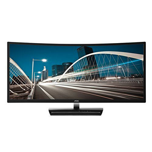 "AOC C3583FQ 35"" VA Curved LED Monitor 2560 x 1080 Res, 21:9,160hz, 300 cd/m2, 4ms,VGA/DVI/(2) HDMI/(2) DP, Spk - qwikby"