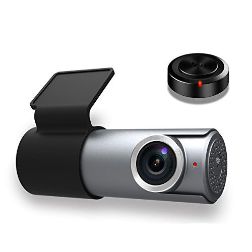 Goluk T1 Wi-Fi FHD 1080P Mini Car Dash Cam with 16G TF Card,Night Vision and G-sensor, Grey - qwikby