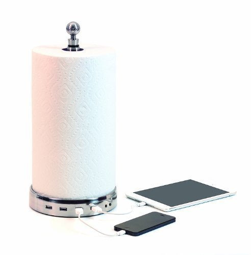 TowlTunes 1.1 (USB paper towel charger with Bluetooth speakers) - qwikby