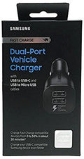 Samsung Fast Charge Dual-Port Car Charger - Retail Packaging - qwikby