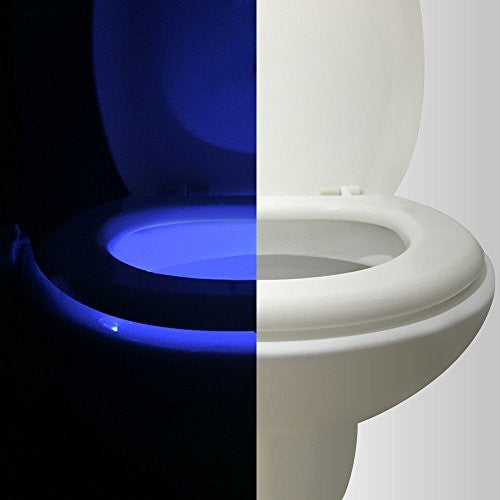Motion Activated Toilet Night light , Vintar Body Auto Motion Activated Sensor Colorful Nightlight, 16-Color Changes, Only Activates in Darkness