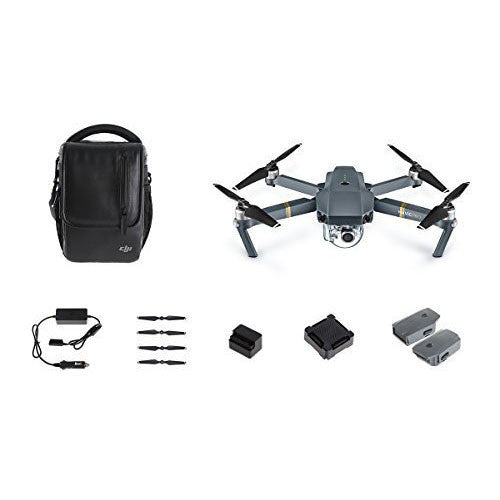 DJI Mavic Pro Bundle with Shoulder Bag, Props, Car Charger and 2 Extra Batteries - qwikby