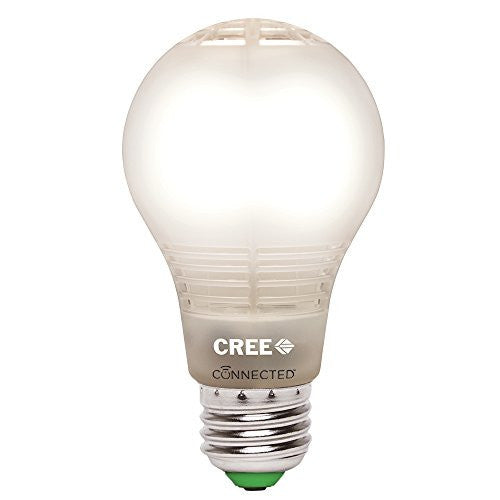 Cree BA19-08027OMF-12CE26-1C100 Connected 60W Equivalent Soft White (2700K) A19 Dimmable LED Light Bulb - qwikby
