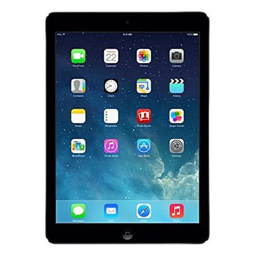 Apple iPad Air - 9.7-Inch 16GB Wi-Fi Tablet (Black with Space Gray) - qwikby