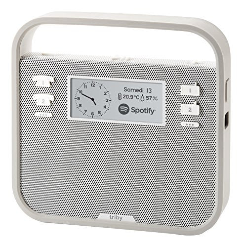 Invoxia Smart Portable Speaker with Amazon Alexa, Grey - qwikby