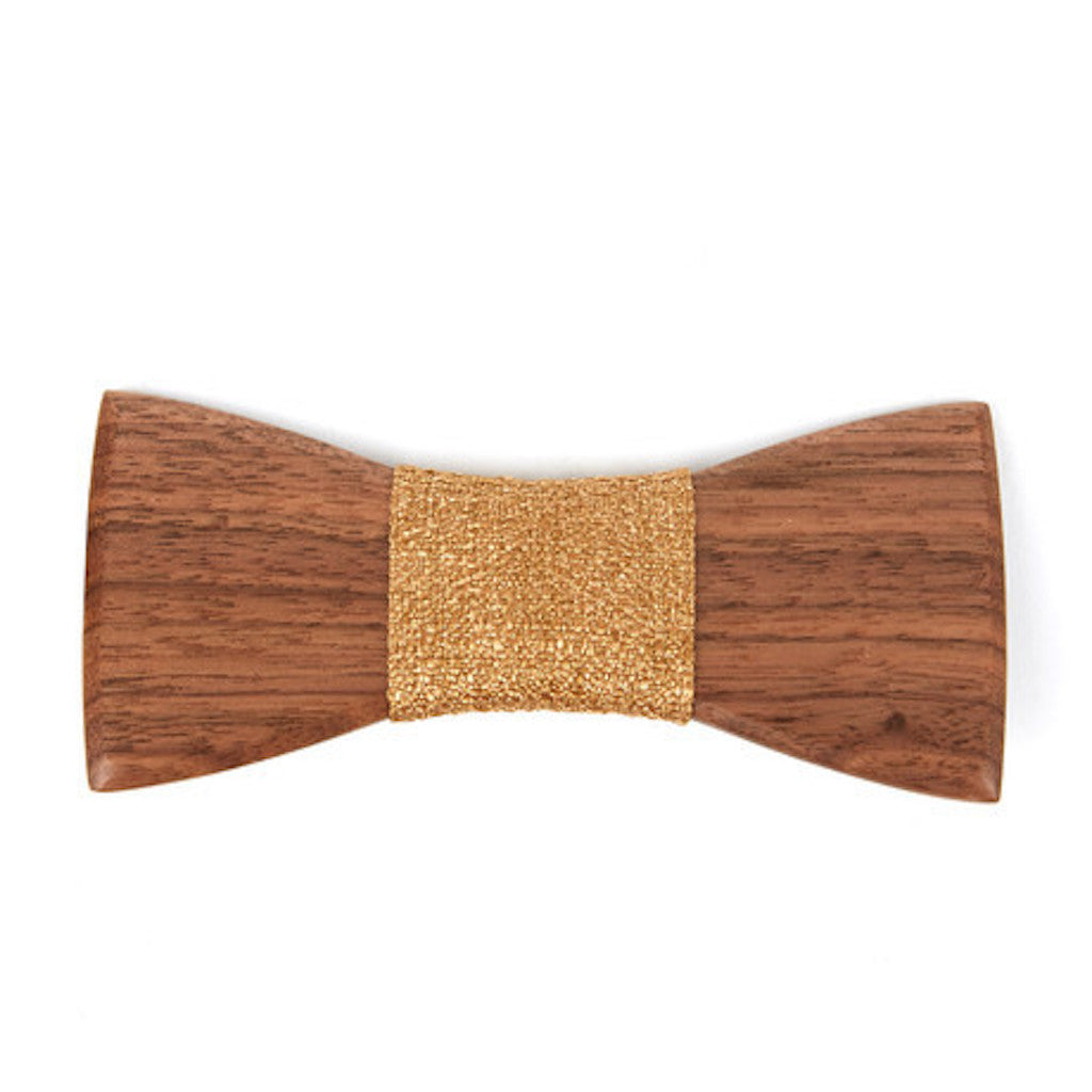 Ebony Wooden Bowtie // Plain Brown