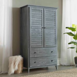 Greenport 2-Door Wardrobe Brushed Grey