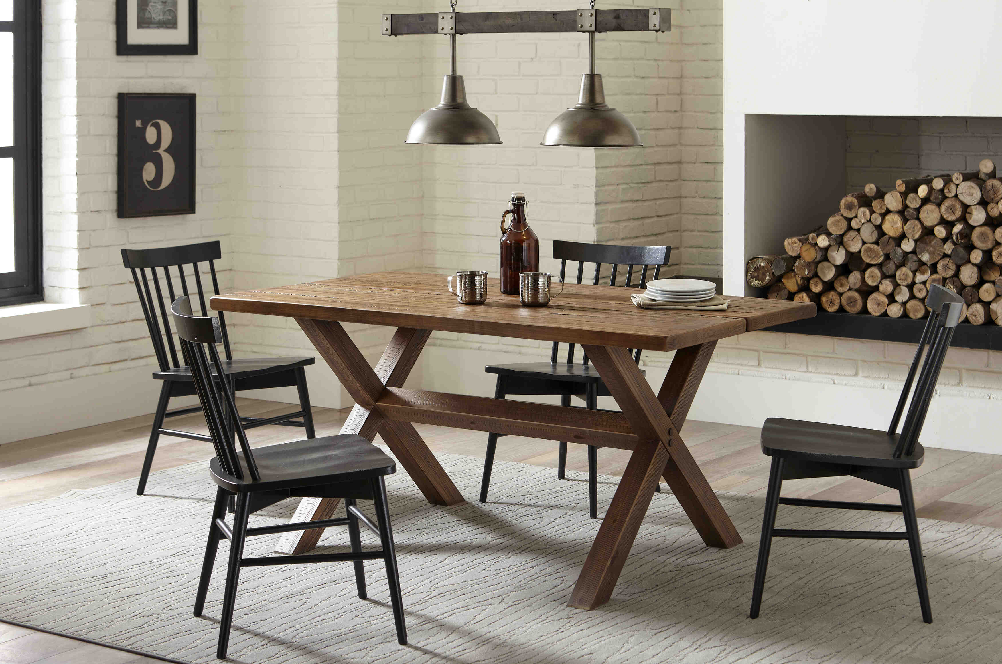 Montauk Solid Wood Trestle Table