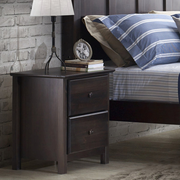Shaker 2-Drawer Nightstand - Expresso - Grain Wood Furniture - 4