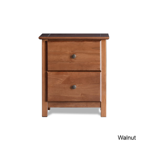 Shaker 2-Drawer Nightstand -  - Grain Wood Furniture - 10