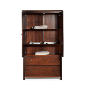 Shaker Optional Wardrobe Shelf - Cherry - Grain Wood Furniture - 2