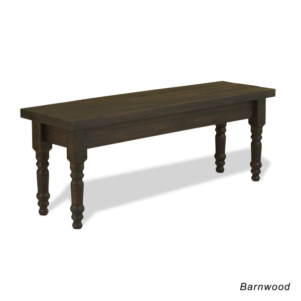 Valerie Solid Wood Bench - Barnwood - Grain Wood Furniture - 1