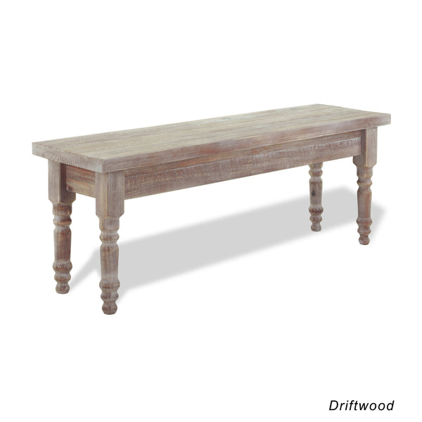 Valerie Solid Wood Bench - Driftwood - Grain Wood Furniture - 2