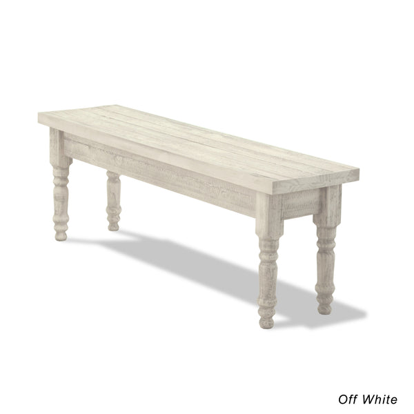 Valerie Solid Wood Bench   Off White   Grain Wood Furniture   4