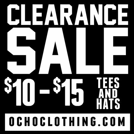 CLEARANCE SALE NOW! $10-$15 Tees and Hats