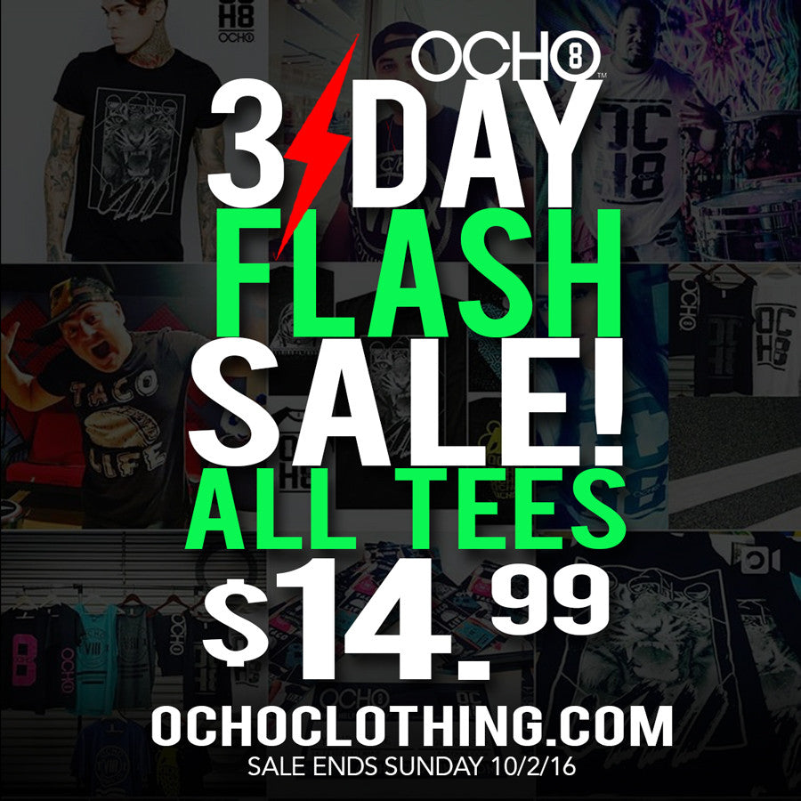 FLASH SALE 3 DAYS ONLY!